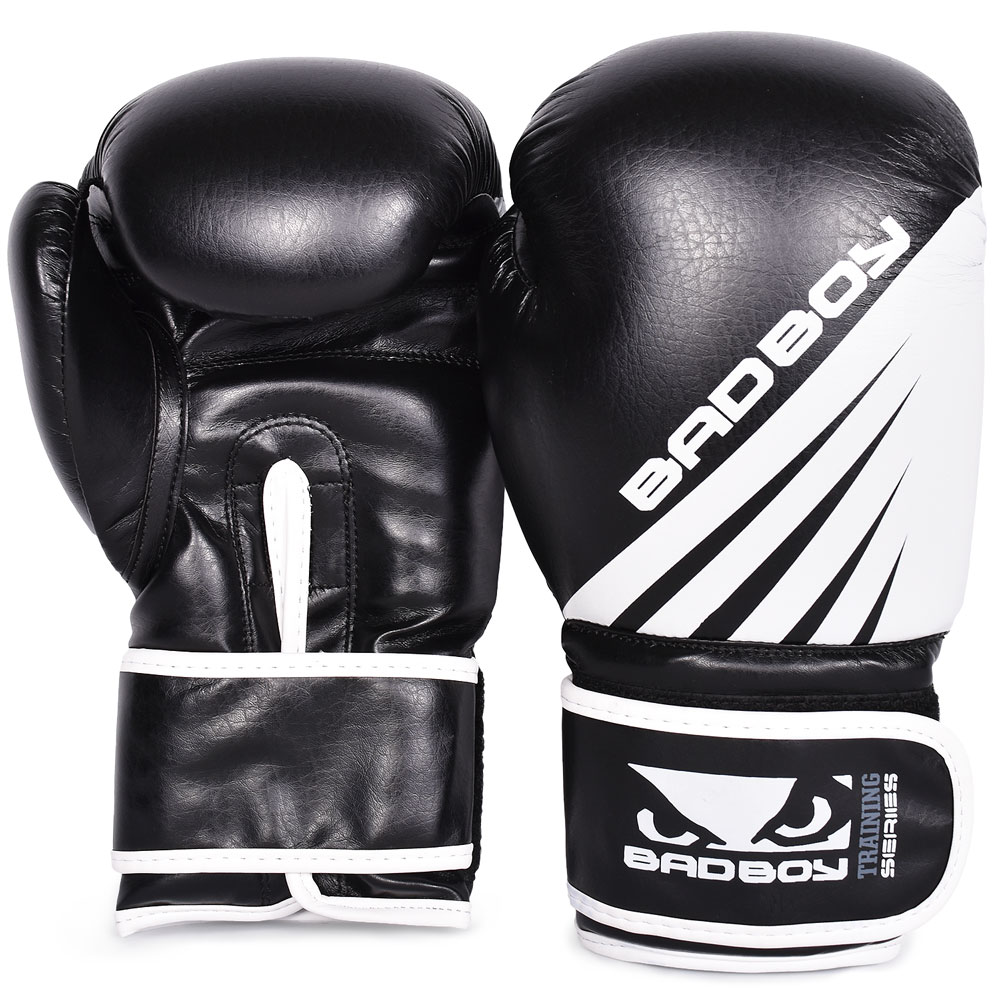 Перчатки для бокса Bad Boy Training Series Impact Boxing Gloves - Black/White